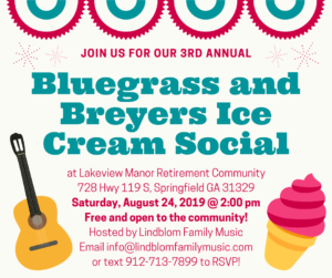 3rd Annual Bluegrass and Breyers Ice Cream Social @ Lakeview Manor Retirement Community